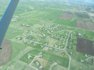 Aerial view of Lazy TH Subdivision
